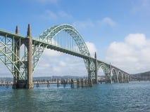 Ornate bridge at Newport, Oregon Royalty Free Stock Images