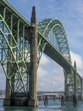 Ornate bridge at Newport, Oregon Royalty Free Stock Photos
