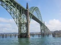 Ornate bridge at Newport, Oregon Royalty Free Stock Photo