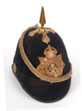 WW1 Ornate British military helmet. British Home Service helmet badged to the Wiltshire Regiment, dated 1914 Stock Photos