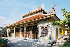 Ornate Buddhist temple royalty free stock photo