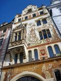 Ornate Building Facade, Prague Stock Images