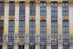 Ornate building of Grand Place in Brussels Royalty Free Stock Image