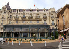 Ornate building of Hotel de Paris, Monte-Carlo Royalty Free Stock Photo