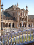 Ornate building in Plaza de Espana, Seville, Spain Royalty Free Stock Images