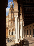 Ornate building in Plaza de Espana, Seville, Spain Royalty Free Stock Photo