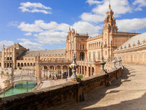 Ornate building in Plaza de Espana, Seville, Spain Stock Image
