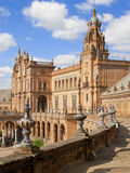 Ornate building in Plaza de Espana, Seville, Spain Stock Images