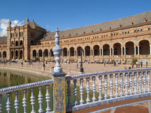 Ornate building in Plaza de Espana, Seville, Spain Royalty Free Stock Image