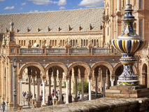 Ornate building in Plaza de Espana, Seville, Spain Stock Photo