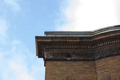 Ornate building roof cornice stock images