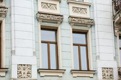 Ornate building with  windows Royalty Free Stock Image