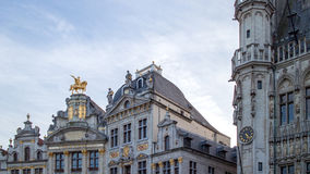 Ornate buildings of Grand Place, Stock Photos