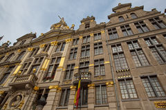 Ornate buildings of Grand Place, Brussels Stock Photography