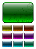Ornate buttons - 10 colors Royalty Free Stock Photography