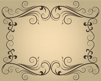 Ornate calligraphic frame Royalty Free Stock Photography