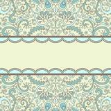 Ornate-card. Vector ornamental decorative card template Stock Photo