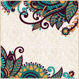 Ornate card announcement Royalty Free Stock Image