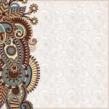 Ornate card announcement Stock Images