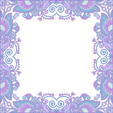 Ornate card announcement Stock Image