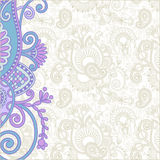 Ornate card announcement Royalty Free Stock Images