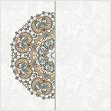 Ornate card announcement Royalty Free Stock Photos