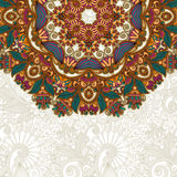 Ornate card with circle ornamental floral pattern Stock Photography