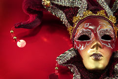 Ornate carnival mask stock images