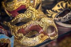 Ornate carnival mask. Ornate carnival venetian mask in the shop Royalty Free Stock Photography