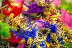 Ornate carnival mask. Ornate carnival venetian mask in the shop Royalty Free Stock Image