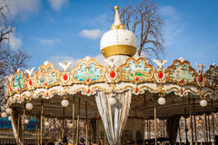 Ornate carousel or merry-go-round Royalty Free Stock Photos