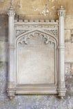 Ornate carved stone frame Stock Images