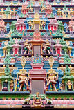 Ornate carvings of an Indian Temple, Singapore Royalty Free Stock Photo