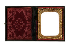Ornate case for Daguerreotype tin pictures Stock Photo