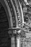 Ornate Cathedral Arch. For a Downtown Pittsburgh Church stock photography