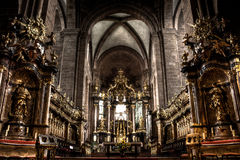 Ornate cathedral interior Stock Photo