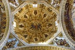 Free Ornate Ceiling Dome Santo Domingo De Guzman Church Oaxaca Mexico Royalty Free Stock Image - 154750506