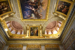 Ornate Ceiling in the Galleria Borghese Rome Ital. The Borghese Collection is a collection of Roman sculptures, old masters and modern art collected by the Roman Royalty Free Stock Images