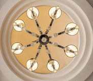 Ornate ceiling light chandelier Royalty Free Stock Images