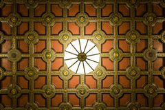 Ornate Ceiling and Light Fixture - Cleveland, Ohio Stock Image