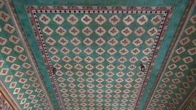 Ornate ceiling ornaments in Jaipur hindu temple, India. Ornate ceiling ornaments in Jaipur hindu temple, Rajasthan,India stock video