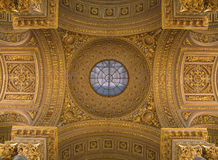 Versailles, France - 10 August 2014 : Yellow ceiling at Versailles Palace Stock Image