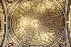Ornate ceiling. View of the ornate ceiling ot the Dome in one of the halls of Uffizi Gallery in Florence, Italy Stock Photo