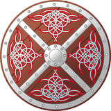 Ornate Celtic Shield Stock Images
