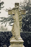 Ornate Cemetery Cross. Ornate Cross Located in a Cemetery in Bedfordshire England Royalty Free Stock Photo