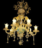 Ornate Chandelier with Jade Centre Royalty Free Stock Images