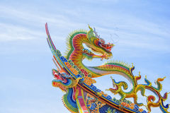 Ornate Chinese Temple detail in the sky Royalty Free Stock Photography