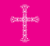 Ornate Christian Cross Vector Royalty Free Stock Image