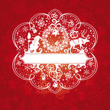 Ornate christmas card Royalty Free Stock Photography