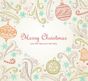 Ornate Christmas frame Royalty Free Stock Image